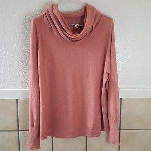 Joie long sleeve cowl neck jersey sweater large